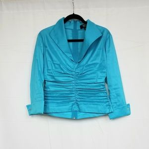 Tadashi Collection Blue Long Sleeve Blouse 12